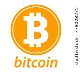 bitcoin icon  coin logo. crypto ... | Shutterstock .eps vector #778028275