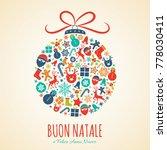 buon natale   merry christmas... | Shutterstock .eps vector #778030411