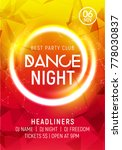 night dance party music night... | Shutterstock .eps vector #778030837