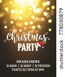bokeh christmas party... | Shutterstock .eps vector #778030879