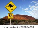 \'danger Kangaroo\' Road Sign...