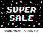 vector 8 bit pixel art sales... | Shutterstock .eps vector #778037419