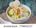 bubur ayam  indonesian rice... | Shutterstock . vector #778042117