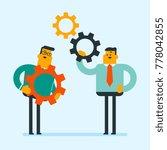 caucasian white business men... | Shutterstock .eps vector #778042855