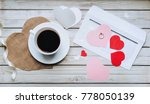 a cup of coffee on the table... | Shutterstock . vector #778050139