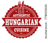 authentic hungarian cuisine... | Shutterstock .eps vector #778053034