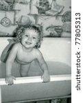 Vintage Photo Of Baby Girl...