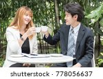 happy businessman and... | Shutterstock . vector #778056637