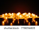 burning candles. shallow depth... | Shutterstock . vector #778056835