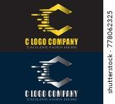 abstract c letter logo design... | Shutterstock .eps vector #778062325