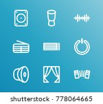 melody icon line set with note...   Shutterstock .eps vector #778064665