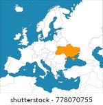 ukraine on the map of europe ...   Shutterstock .eps vector #778070755
