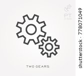 line icon two gears