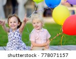 little boy and girl having fun... | Shutterstock . vector #778071157