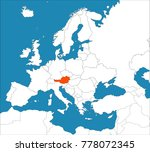 austria on the europe map | Shutterstock .eps vector #778072345