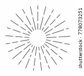 vintage sunburst in lines shape ... | Shutterstock .eps vector #778073251