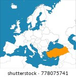 turkey on the europe map ... | Shutterstock .eps vector #778075741