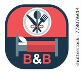 vector flat emblem for bed and... | Shutterstock .eps vector #778076614