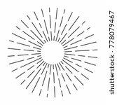 vintage sunburst in lines shape ...   Shutterstock .eps vector #778079467