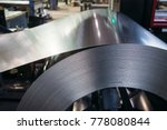 roll of galvanized steel sheet. ... | Shutterstock . vector #778080844