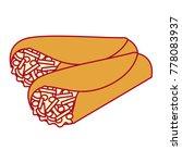 delicious mexican food burrito   Shutterstock .eps vector #778083937