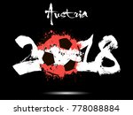 abstract number 2018 and soccer ... | Shutterstock .eps vector #778088884
