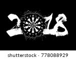 abstract number 2018 and darts...   Shutterstock .eps vector #778088929