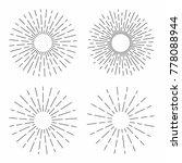set of vintage sunburst in... | Shutterstock .eps vector #778088944