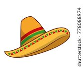 mexican hat isolated icon | Shutterstock .eps vector #778088974