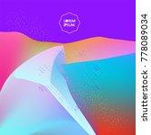 fluid color background. liquid... | Shutterstock .eps vector #778089034