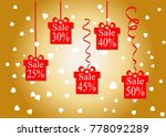 the discount percentage....   Shutterstock .eps vector #778092289