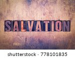 the word salvation concept and... | Shutterstock . vector #778101835