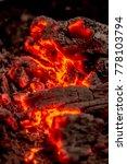 Bonfire Coals  Glowing Hot...