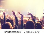 the audience watching the... | Shutterstock . vector #778112179