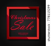 christmas sale poster with... | Shutterstock .eps vector #778115299