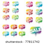 colorful sale stickers | Shutterstock .eps vector #77811742