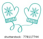 winter time mittens gloves | Shutterstock . vector #778117744