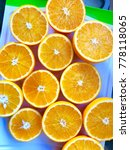 oranges cut in half | Shutterstock . vector #778118065