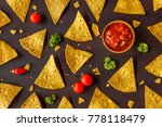 corn tortilla chips nachos and... | Shutterstock . vector #778118479
