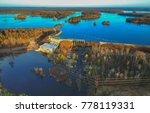 Small photo of Waterfall at hydro electric dam with flowage above and river below