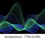 green and blue vector abstract... | Shutterstock .eps vector #778121581