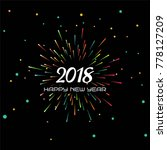 abstract new year 2018... | Shutterstock .eps vector #778127209