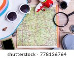 top view trip vacation of... | Shutterstock . vector #778136764