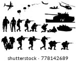 set of military silhouettes