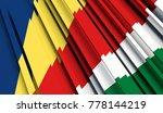 fragment flag of seychelles. 3d ... | Shutterstock . vector #778144219