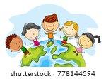 happy kid cartoon standing... | Shutterstock .eps vector #778144594