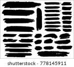 collection of hand drawn grunge ... | Shutterstock .eps vector #778145911