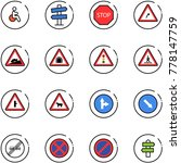 line vector icon set   disabled ... | Shutterstock .eps vector #778147759