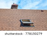 new roof with skylight  asphalt ... | Shutterstock . vector #778150279