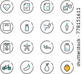 line vector icon set   heart... | Shutterstock .eps vector #778151611